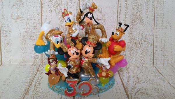 ディズニー ミッキー&ミニー&ドナルド&プルート他 TDL30周年フィギュアリン TDL30周年ゴールドコスチューム