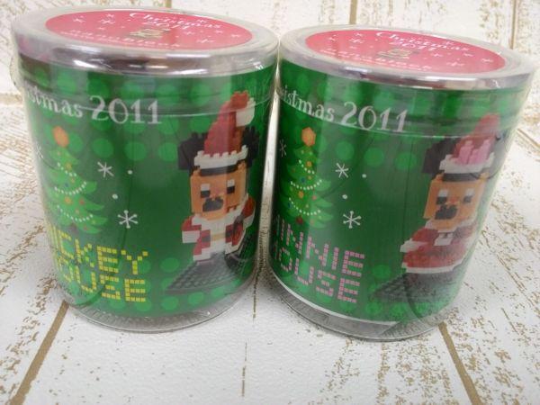 ディズニー ミッキー&ミニー ナノブロック 2点 2011 クリスマス-1