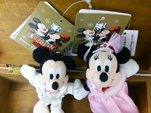 ミッキー&ミニー ぬいぐるみストラップ 2007 クリスマス
