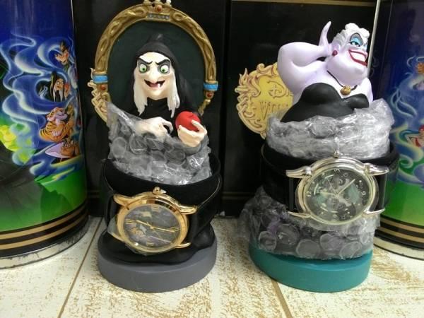 女王(エヴィルクィーン)&アースラ ヴィランズ 腕時計・フィギュアリンセット 2種