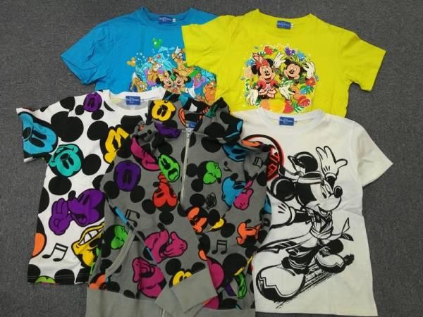 ミッキー&ミニー他 Tシャツ・ジップアップパーカー 耳付フード5点 TDR30th夏祭り等 ML12