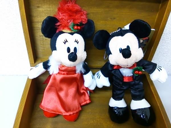 TDS クリスマス2007 ミッキー&ミニー ぬいぐるみバッジBBB