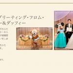 """結婚式にダッフィーが来てくれる♪「ディズニー・フェアリーテイル・ウェディング」TDSホテルミラコスタのウェディングオプションプラン「""""アウグーリ!""""グリーティング・フロム・ミッキー&ミニー&ダッフィー」のご紹介♪"""