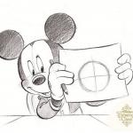 TDL「ディズニー・ドローイング・クラス」に7月9日、最後のイラストが登場!最後にふさわしい、ミッキーがドローイングを楽しんでいるイラストです♪