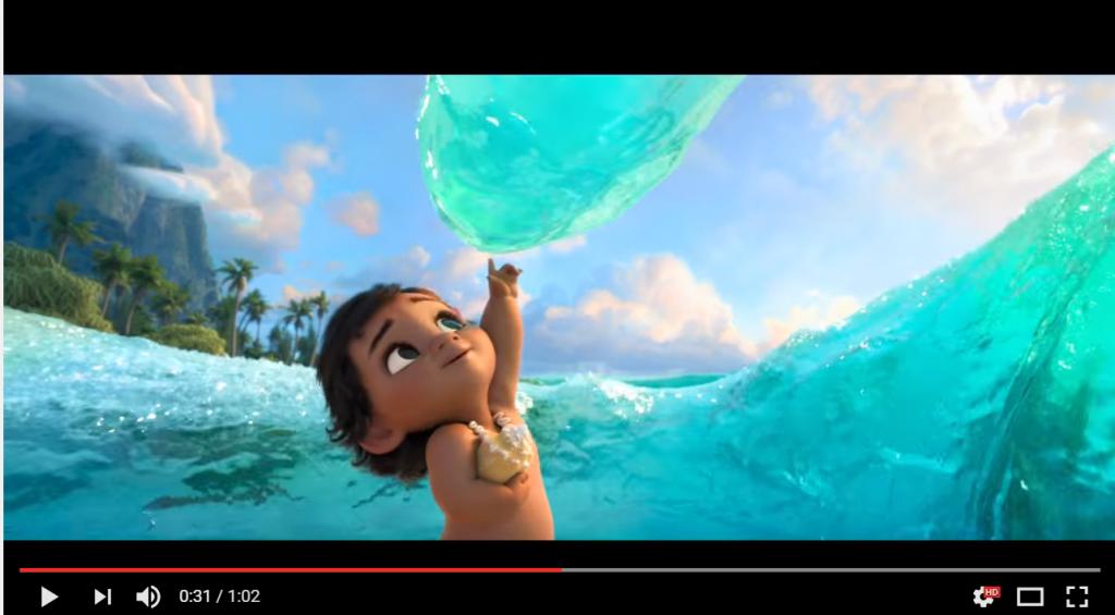 子供時代の可愛いモアナが登場する「モアナと伝説の海」の特報映像が解禁!美しい海に見とれてしまいます♪
