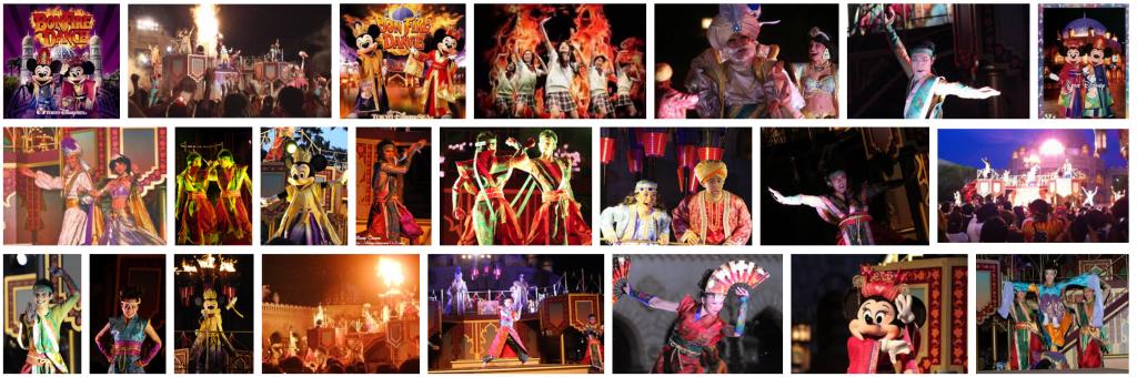 TDSで2007年から2010年まで開催された夏のショー【ボンファイアーダンス】動画・グッズ・解説などのまとめ。ゲストもダンスに参加できました。