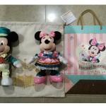 ディズニーホテル宿泊者限定!「エクスクルーシブ・ぬいぐるみセット」をご紹介♪限定ホテル衣装のミッキー&ミニーのぬいぐるみです。