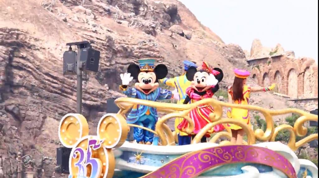 東京ディズニーシー「ハピエストセレブレーション・オン・ザ・シー」スタッフインパレポ♪35周年コスのキャラに会えちゃいます♪動画追加!