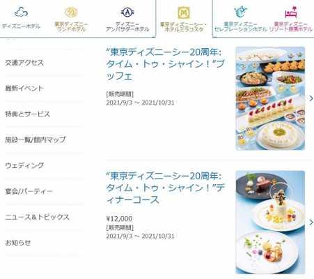 ホテルミラコスタのTDS20周年記念メニューまとめ!